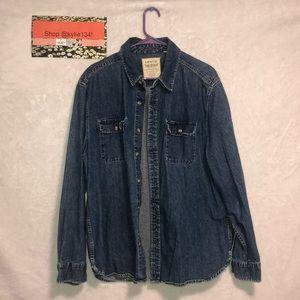 Men's Levi Button Up Jean Shirt
